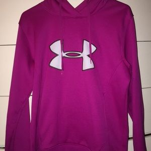 Purple Under Armour sweatshirt